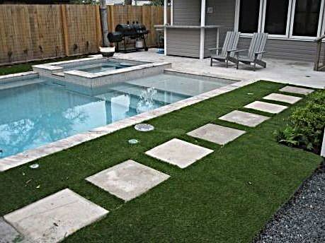 Synthetic turf around your pool